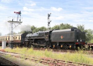 """""""British Railways Standard Class 5 73156 approaches Quorn & Woodhouse with a crew refresher train on a sunny July morning"""". - Photo © Roy Harris."""