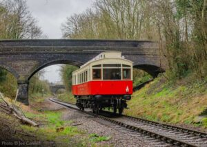 """""""1903 North Eastern Railway Electric Autocar 3170 proceeds towards Rothley during an extended visit to the GCR"""". The Autocar has now left the GCR, but we hope to welcome this splendid vehicle back to the railway in the future. - Photo © Joe Connell."""