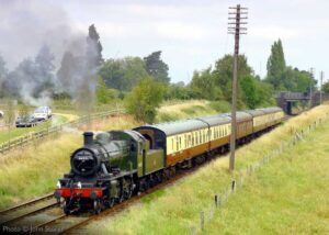 """""""The magic of travel by steam train has returned to the Great Central... Ivatt Class 2 46521 was our steam locomotive last weekend"""". Photo © John Storer."""