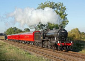 """""""Visiting K4 61994 'The Great Marquess' hauls a postal special during a bright afternoon on the Great Central"""". Photo © Paul Biggs."""