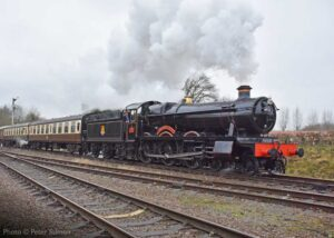"""""""Visiting GWR Hall 4953 'Pitchford Hall' creates an impressive atmosphere while hauling a southbound passenger train"""". Photo © Peter Salmon."""