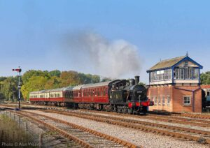 """""""A popular favourite... Fowler 3F 47406 is seen at Swithland Sidings with a five-coach train for Leicester North"""". - Photo © Alan Weaver."""