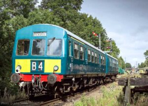 """""""A diesel railcar returns from Leicester North, bound for Nunckley Hill, as the Great Central Railway runs a service over the southern section of the line and the Mountsorrel Branch during bridge works"""". - Photo © John Smith."""