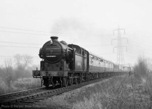 """""""In March 1982, N2 4744 passes Swithland Sidings in a scene which is barely recognisable today. This location now features a fully signalled double-track main line, two loops, sidings, and a branch line connection."""" - Photo © Harper Shaw Collection."""