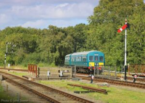 """""""Branch line excursion... A Metro Cammell diesel railcar joins the Mountsorrel Branch at Swithland Sidings"""". - Photo © John Storer."""