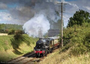 """""""Steaming through the countryside... Stanier Class 5 45305 'Alderman A.E. Draper' approaches Quorn & Woodhouse during August 2020."""" - Photo © John Smith."""