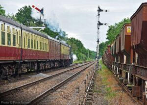 """""""Another exciting journey gets under way, as Stanier Class 8 48305 steams away from Quorn & Woodhouse."""" Photo © Peter Salmon."""