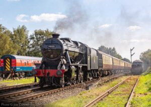 """""""Steam on a sunny day... Stanier Class 8 48305 approaches Quorn & Woodhouse on a bright September afternoon."""" - Photo © Joe Connell."""