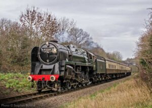 """""""Approaching Leicester North.... British Railways Standard Class 9F 92214 slows on the approach to the GCR's southern terminus."""" - Photo © Stephen Bottrill."""