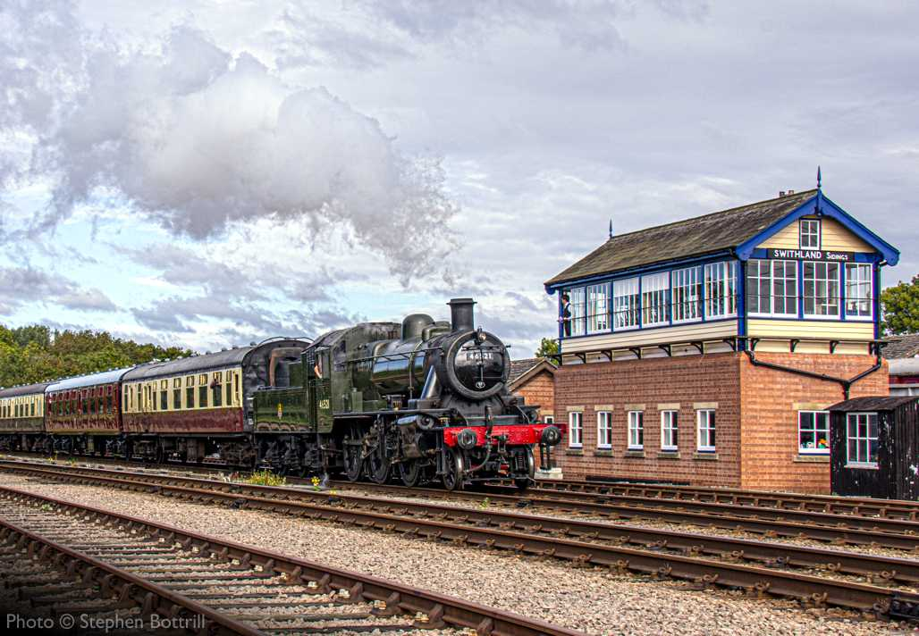 """""""Ivatt Class 2 46521 steams past Swithland Sidings on the final weekend of passenger train running of September 2020."""" - Photo © Stephen Bottrill."""