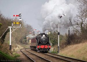 """Steam power from the Southern Region... Visiting U Class 2-6-0 31806 storms away from Loughborough Central with a train for Leicester North."" - Photo © Stephen Bottrill."