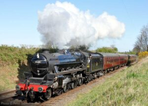 """A steam locomotive in the sunshine... Stanier Class 5 45305 climbs the gentle gradient towards Quorn & Woodhouse, back in April 2015."" - Photo © Peter Salmon."