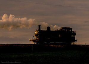 """Returning to shed after a long day of work... Fowler 3F 47406 steams back to Loughborough as the sun sets."" - Photo © Stephen Bottrill."