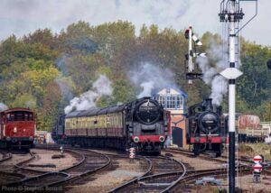 """A busy afternoon at Swithland Sidings with four steam locos forming an interesting scene."" - Photo © Stephen Bottrill."