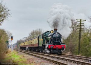"""""""A scene to look forward to... Although our passenger trains are taking a temporary break until the new year 2021, an image of a steam locomotive at work brings optimism and anticipation of a better year ahead."""" - Photo © Joe Connell."""