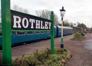 The first departure from Rothley in 2021 was a little unusual, collecting various equipment from our Santa and Winter Wonderlights season for secure storage off-site, and a herd of reindeer which had been living at the station during December. Although we will not be running passenger trains during January 2021, other trains may operate on any section of the line at any time, for testing, training, or for other operational reasons. - Photo © AJM.