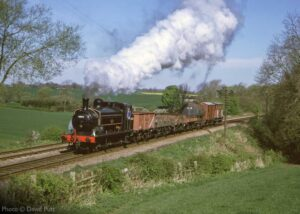 """""""Great Northern Railway Class J13 number 1247 (later classified as the LNER J52 Class, and appearing here with British Railways livery and number 68846) hauls a short freight train along the Great Central Railway in April 1999"""". This locomotive now resides at the National Railway Museum. - Photo © David Putt."""