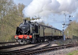 """""""Southern Railway U Class 31806 was a very popular visitor to the Great Central in early 2016, and is seen here passing Swithland Sidings with a southbound passenger train"""". - Photo © Peter Salmon."""