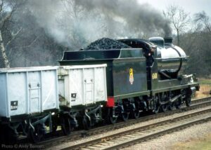 """""""Power by design... O4 Class 63601 works a coal train along our preserved section of the Great Central Main Line"""".<br /> 63601 appears courtesy of the National Railway Museum. The loco will return to steam, and is currently being overhauled at the GCR. - Photo © Andy Bennett."""