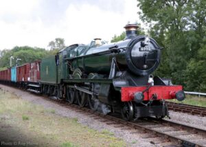 """""""Mixed traffic work for a Hall... 6990 'Witherslack Hall' works a southbound fitted van train, seen here at Swithland Sidings."""" - Photo © Roy Harris."""
